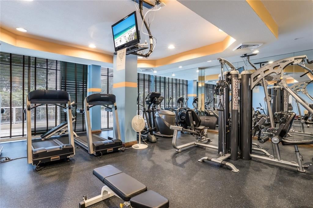 Fitness center. - Condo for sale at 1800 Benjamin Franklin Dr #B506, Sarasota, FL 34236 - MLS Number is A4451047