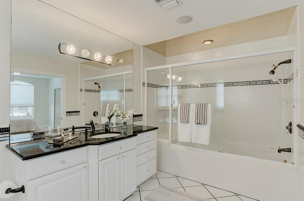 Master Bath with Whirlpool Tub - Single Family Home for sale at 867 N Shore Dr, Anna Maria, FL 34216 - MLS Number is A4454292