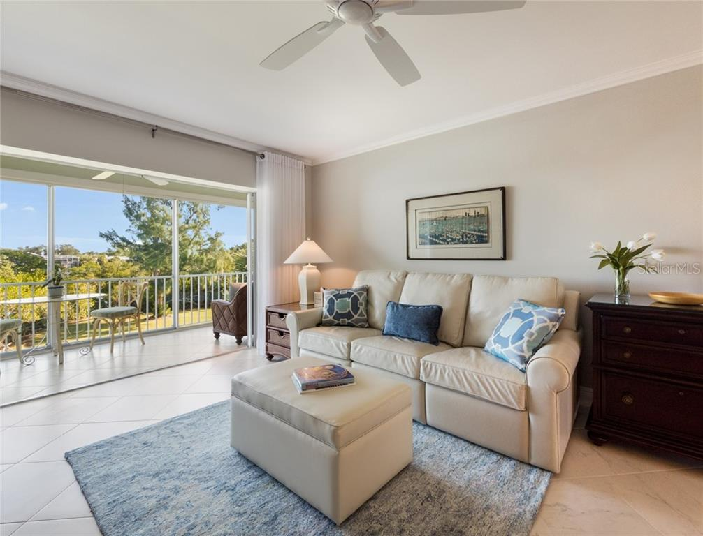 Living Room - Condo for sale at 3330 Gulf Of Mexico Dr #305-D, Longboat Key, FL 34228 - MLS Number is A4454357