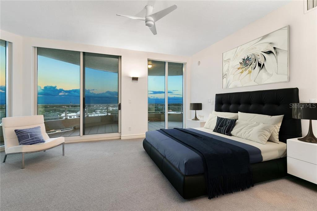 Master bedroom and master terrace. - Condo for sale at 500 S Palm Ave #91, Sarasota, FL 34236 - MLS Number is A4454405