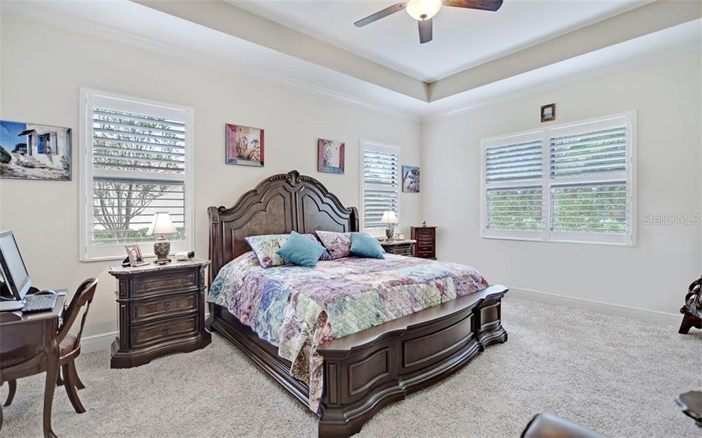 Spacious Master bedroom - Single Family Home for sale at 8260 Larkspur Cir, Sarasota, FL 34241 - MLS Number is A4455087