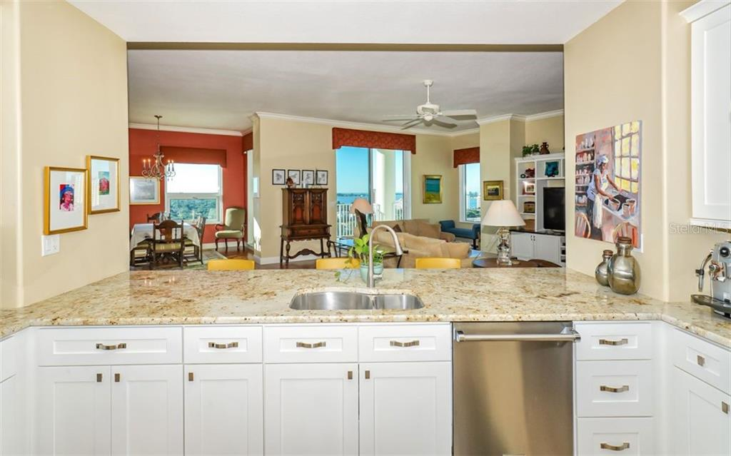 Kitchen - work with a view! - Condo for sale at 1771 Ringling Blvd #ph305, Sarasota, FL 34236 - MLS Number is A4455755