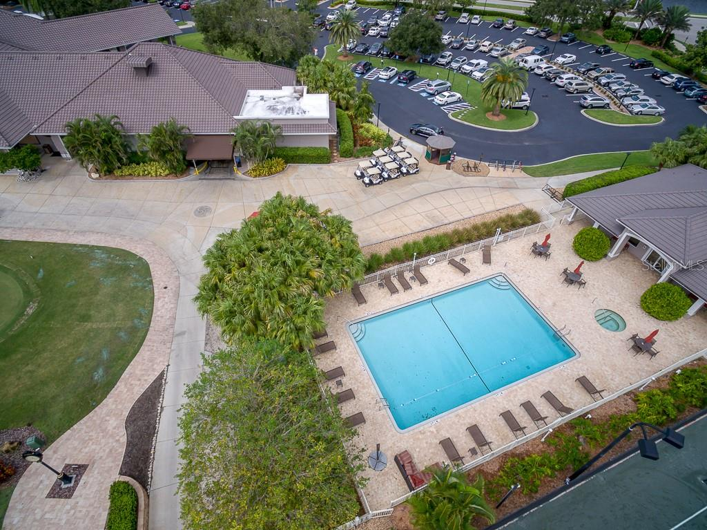 Club heated pool and spa - Condo for sale at 9570 High Gate Dr #1722, Sarasota, FL 34238 - MLS Number is A4457005