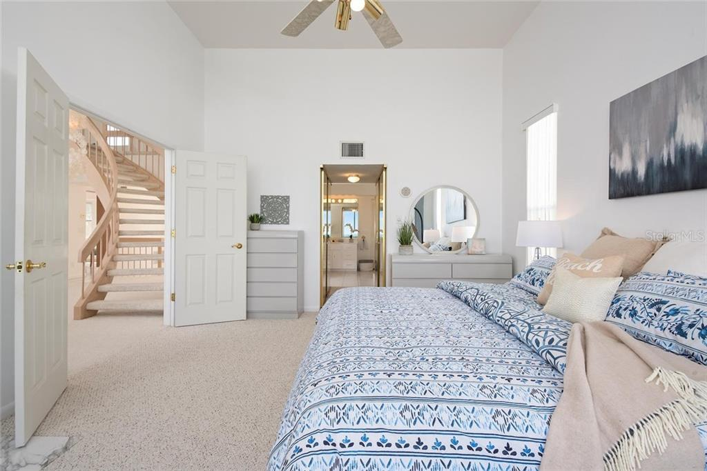 Master bedroom with en-suite spa inspired bath - Single Family Home for sale at 710 S Bay Blvd, Anna Maria, FL 34216 - MLS Number is A4461640