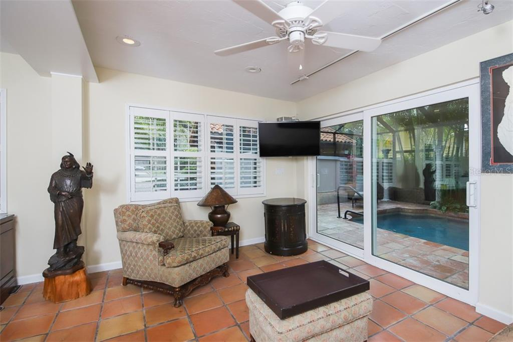 Access to the pool gives this space many uses - Single Family Home for sale at 3838 Flores Ave, Sarasota, FL 34239 - MLS Number is A4461669
