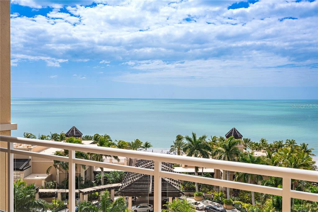 Endless seascape views from Unit 805 terraces - Condo for sale at 1300 Benjamin Franklin Dr #805, Sarasota, FL 34236 - MLS Number is A4462621