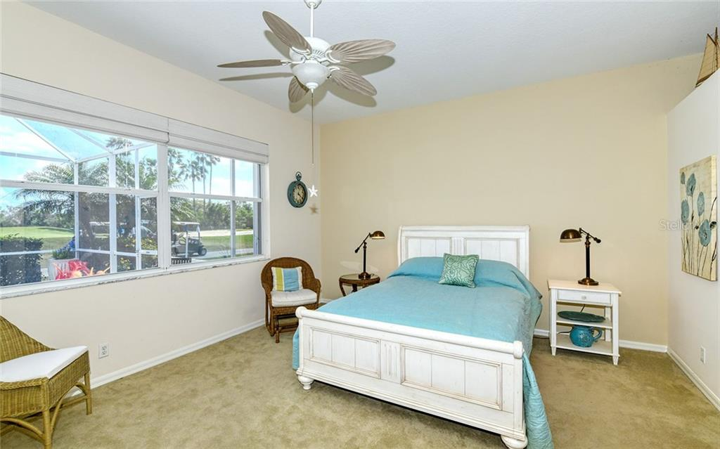 Master bedroom overlooks golf course green - Villa for sale at 4605 Samoset Dr, Sarasota, FL 34241 - MLS Number is A4463082