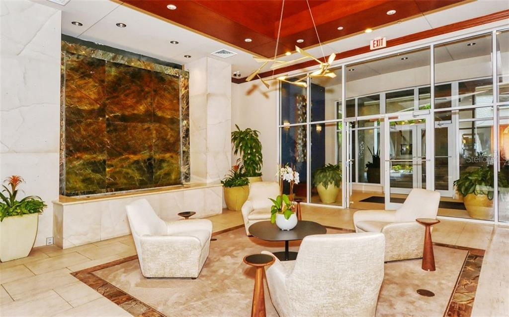 Welcoming lobby - Condo for sale at 100 Central Ave #A401, Sarasota, FL 34236 - MLS Number is A4463296