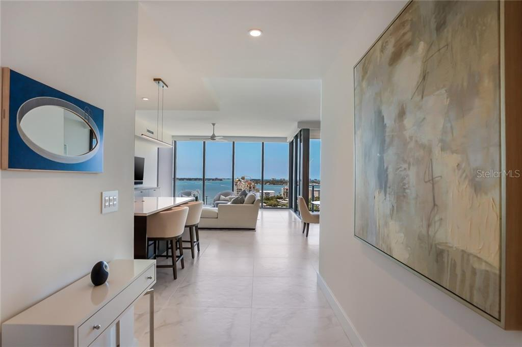 You'll love the view immediately upon entering the condo! - Condo for sale at 1155 N Gulfstream Ave #1404, Sarasota, FL 34236 - MLS Number is A4467921