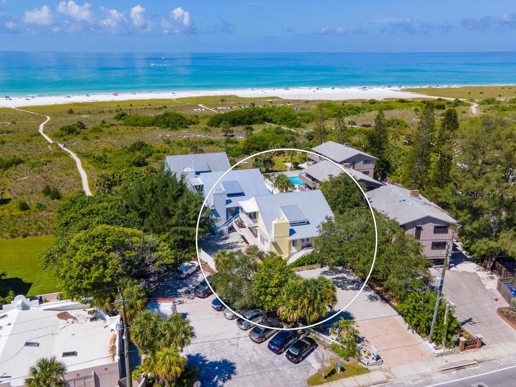 Beach frontage in your backyard - Single Family Home for sale at 500 Beach Rd #1, Sarasota, FL 34242 - MLS Number is A4474527
