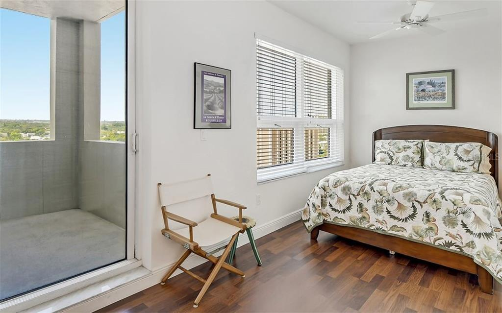 2nd bedroom with terrace - Condo for sale at 1771 Ringling Blvd #1110, Sarasota, FL 34236 - MLS Number is A4474683
