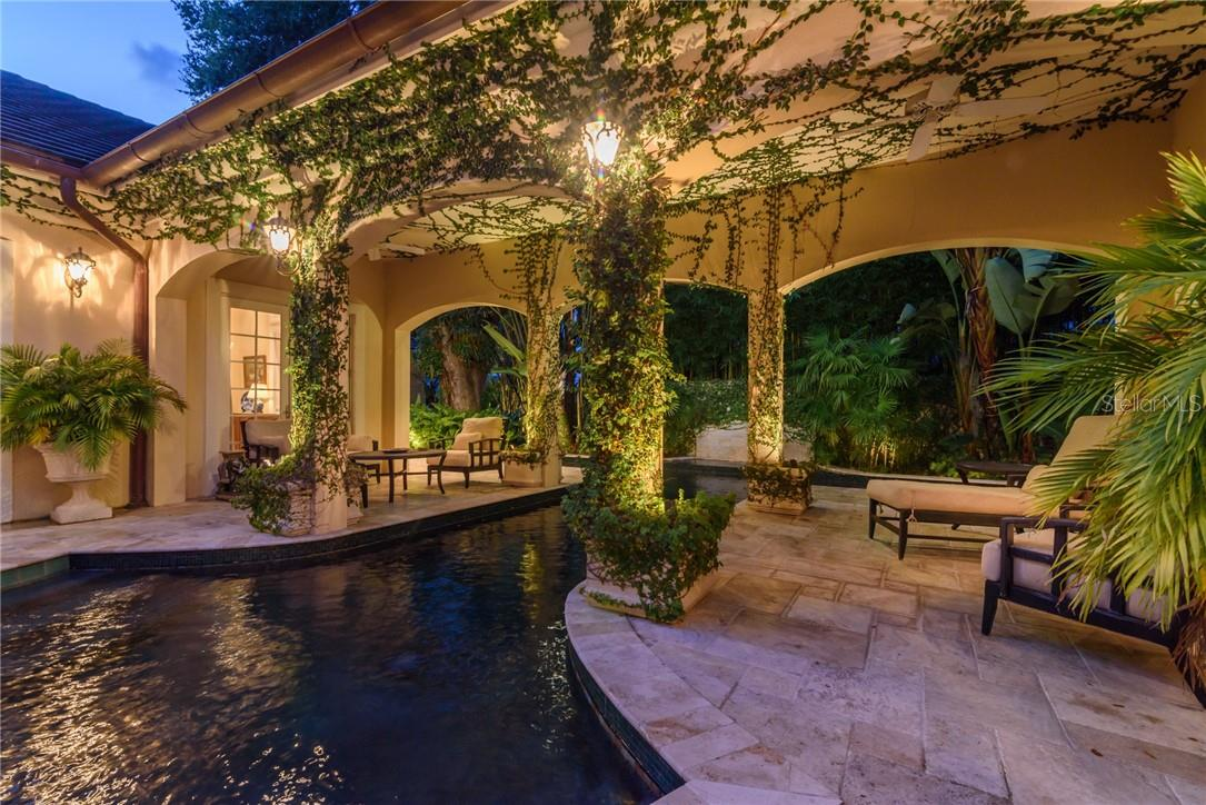 A Mediterranean ivy covered poolscape appeals to all senses! - Single Family Home for sale at 1807 Oleander St, Sarasota, FL 34239 - MLS Number is A4475067