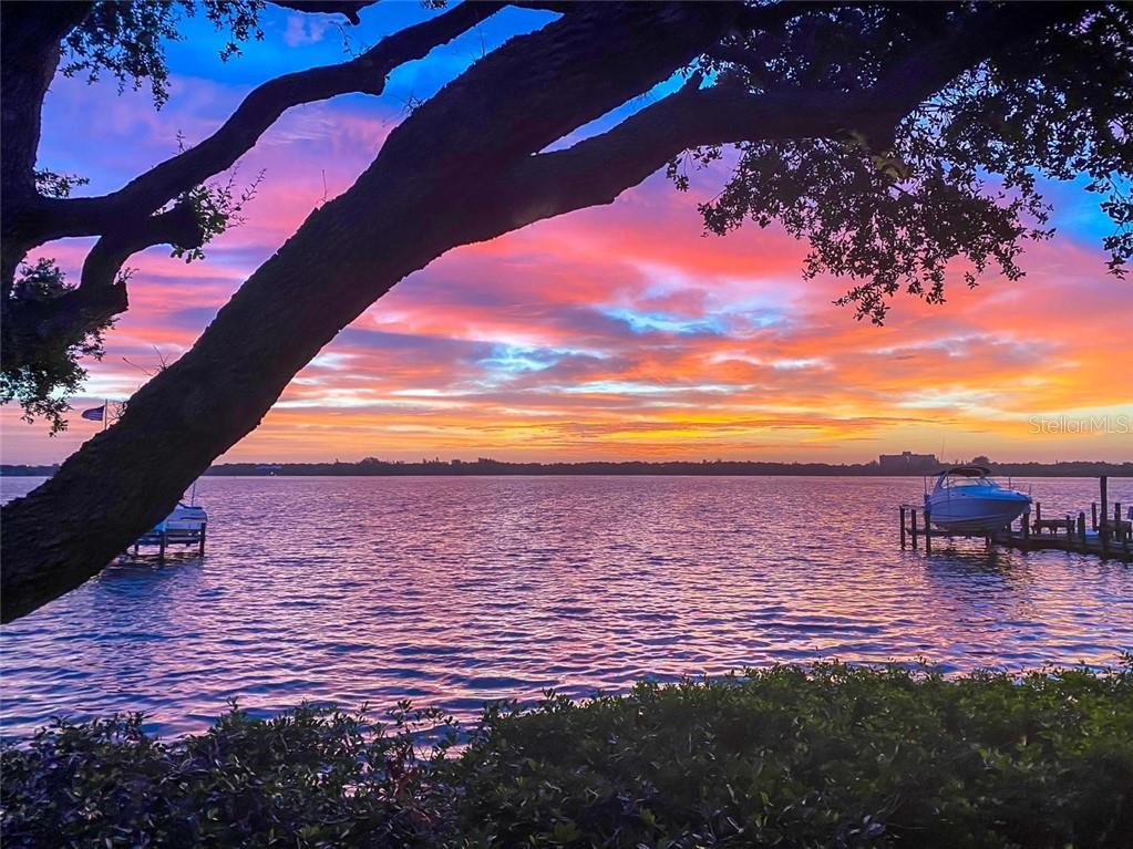 Sunrise over Little Sarasota Bay - Single Family Home for sale at 8377 Midnight Pass Rd, Sarasota, FL 34242 - MLS Number is A4476899
