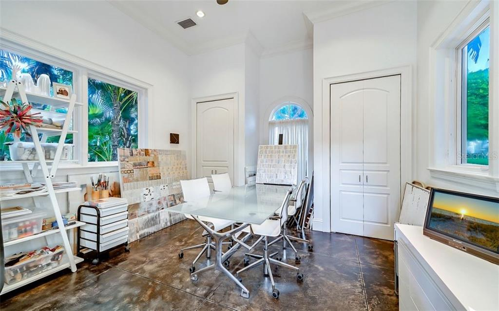 Currently an art studio that could be a 4th en-suite guest bedroom - Single Family Home for sale at 35 Lighthouse Point Dr, Longboat Key, FL 34228 - MLS Number is A4477572