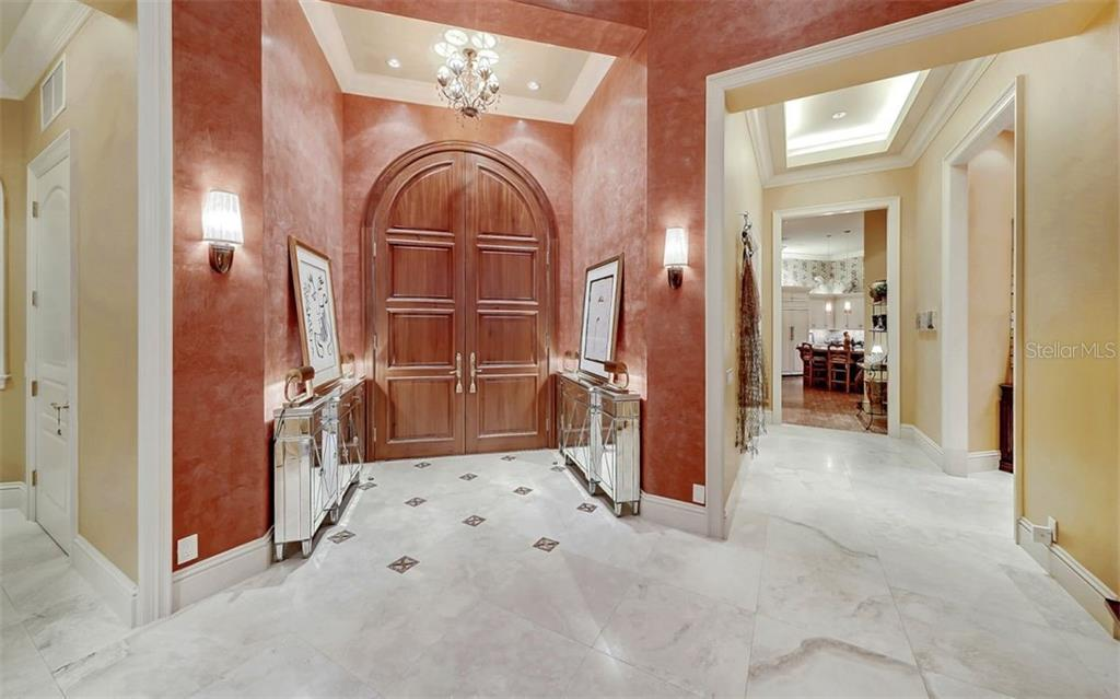 Front foyer - Single Family Home for sale at 35 Lighthouse Point Dr, Longboat Key, FL 34228 - MLS Number is A4477572