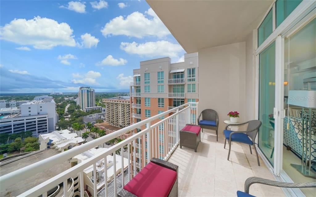 This large terrace offers great views - Condo for sale at 1350 Main St #1601, Sarasota, FL 34236 - MLS Number is A4478753