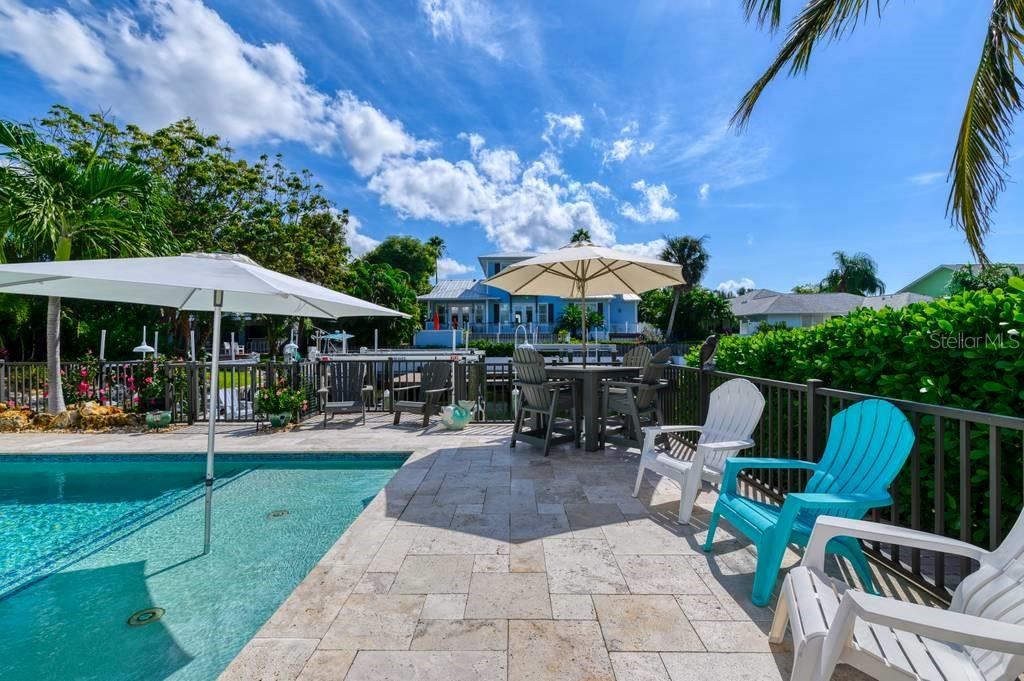 Propane heated pool and spa. - Single Family Home for sale at 718 Key Royale Dr, Holmes Beach, FL 34217 - MLS Number is A4480381