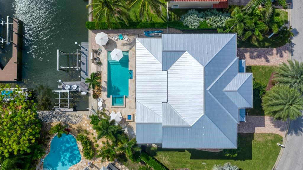 Aerial straight down view. - Single Family Home for sale at 718 Key Royale Dr, Holmes Beach, FL 34217 - MLS Number is A4480381