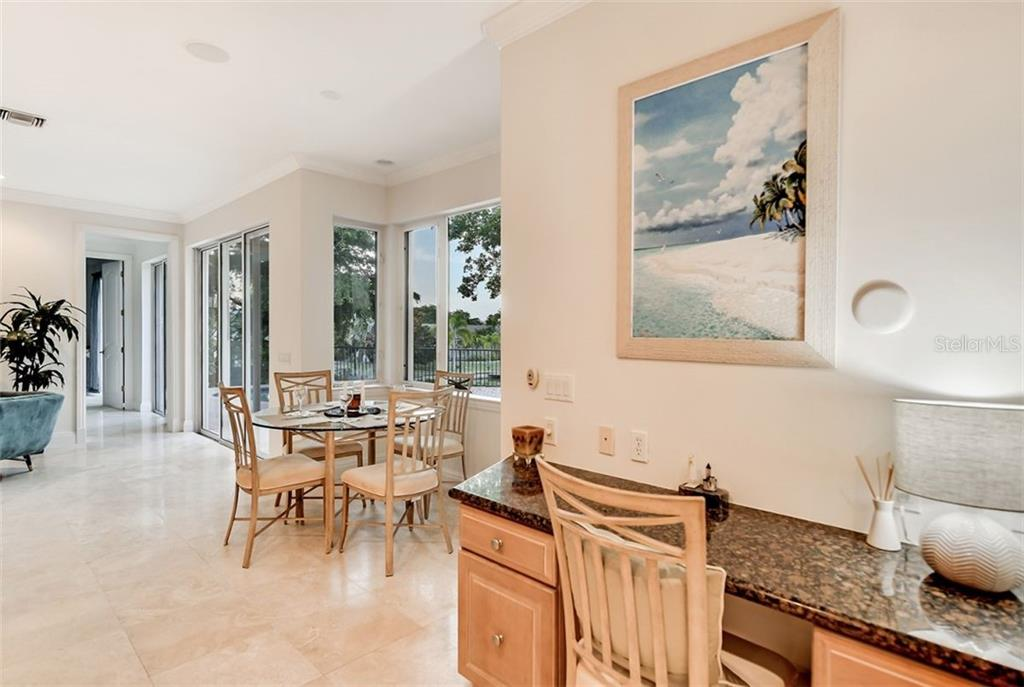 A nice built in desk area for all your recipe planning ! - Single Family Home for sale at 501 Cutter Ln, Longboat Key, FL 34228 - MLS Number is A4480484