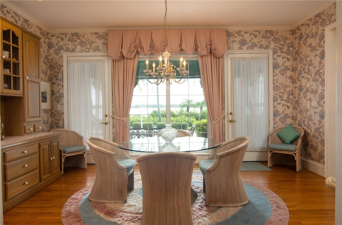 Breakfast room. - Single Family Home for sale at Address Withheld, Sarasota, FL 34242 - MLS Number is A4483403