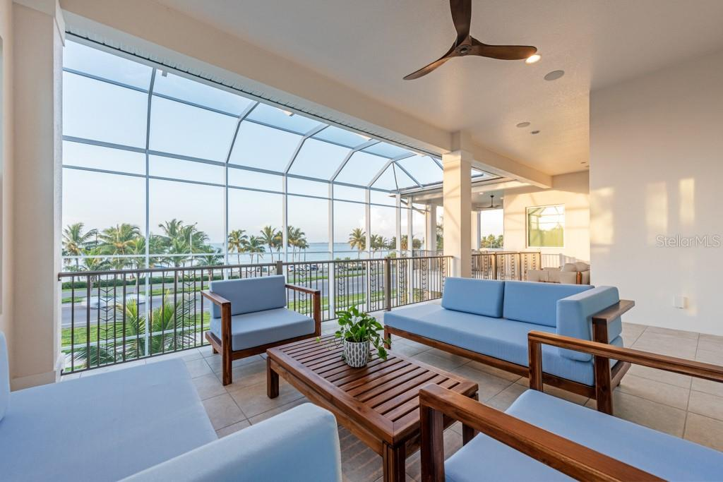 Balcony Off 2nd Floor Great Room - Single Family Home for sale at 121 Seagull Ln, Sarasota, FL 34236 - MLS Number is A4483951