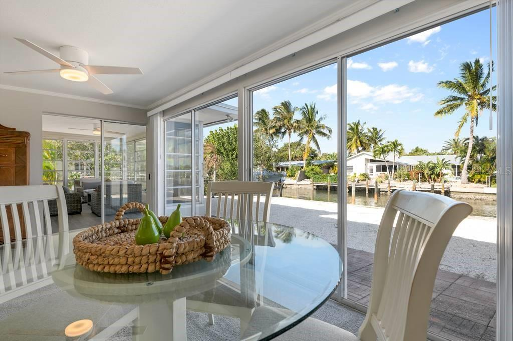 Lovely views of the water from the dining room - Single Family Home for sale at 512 68th St, Holmes Beach, FL 34217 - MLS Number is A4484565