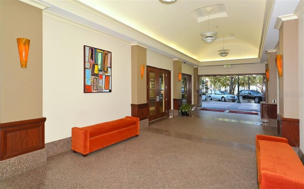 Entrance off Central Ave - Condo for sale at 50 Central Ave #14b, Sarasota, FL 34236 - MLS Number is A4487974