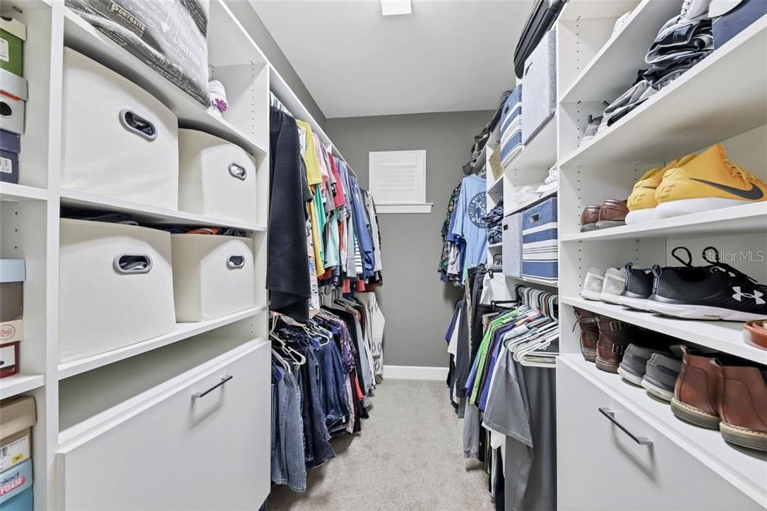 Custom closets with maximum storage - shoe racks, drawers, you have it all. - Single Family Home for sale at 11713 Blue Hill Trl, Bradenton, FL 34211 - MLS Number is A4490622