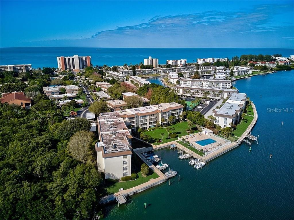 577 Sutton Place Longboat Key Florida 34228 | Aerial of Sutton Place Bayside - Condo for sale at 577 Sutton Pl #T-25, Longboat Key, FL 34228 - MLS Number is A4492432