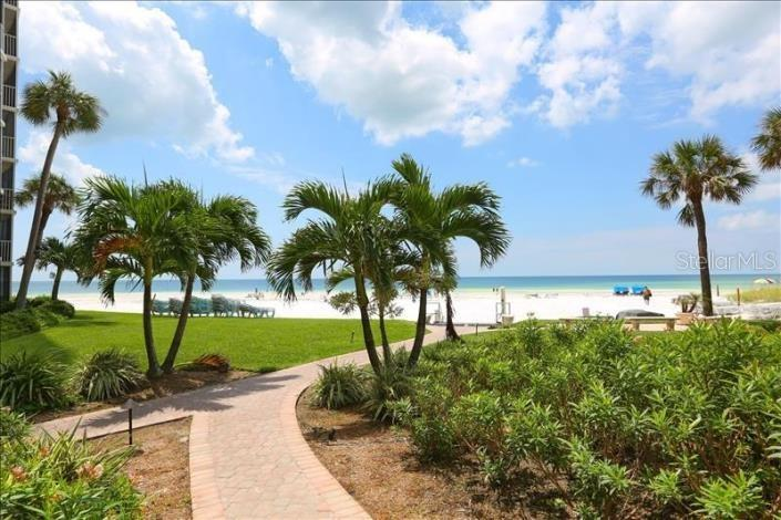 Community Walking Path - Direct Access to Siesta Key Beach - Condo for sale at 6300 Midnight Pass Rd #701, Sarasota, FL 34242 - MLS Number is A4496847