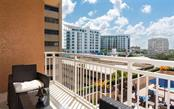 Another viewpoint from the terrace off the living room - Condo for sale at 1350 Main St #701, Sarasota, FL 34236 - MLS Number is A4472236
