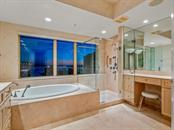 Water, water, everywhere...Direct bay views abound, even from the luxurious soaking tub! - Condo for sale at 1111 Ritz Carlton Dr #1506, Sarasota, FL 34236 - MLS Number is A4480943