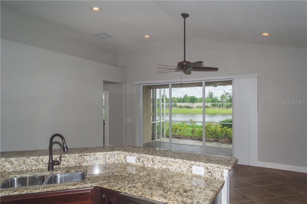 Views of Lake From The Kitchen - Single Family Home for sale at 2290 Terracina Dr, Venice, FL 34292 - MLS Number is N6101301