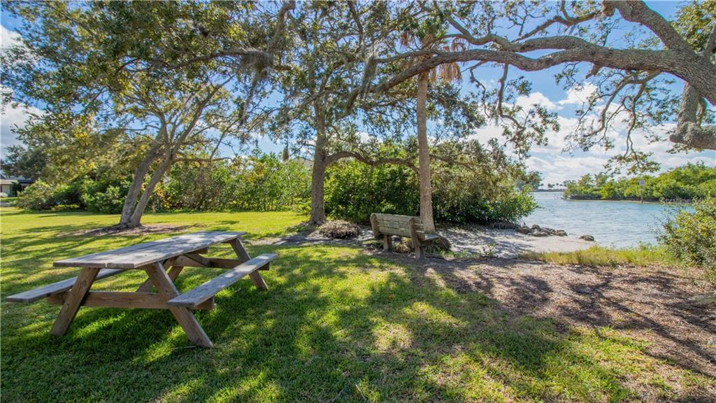 Bayfront Park - picnic table, bench, and access to Lyons Bay - Single Family Home for sale at 409 Palm Ave, Nokomis, FL 34275 - MLS Number is N6102313