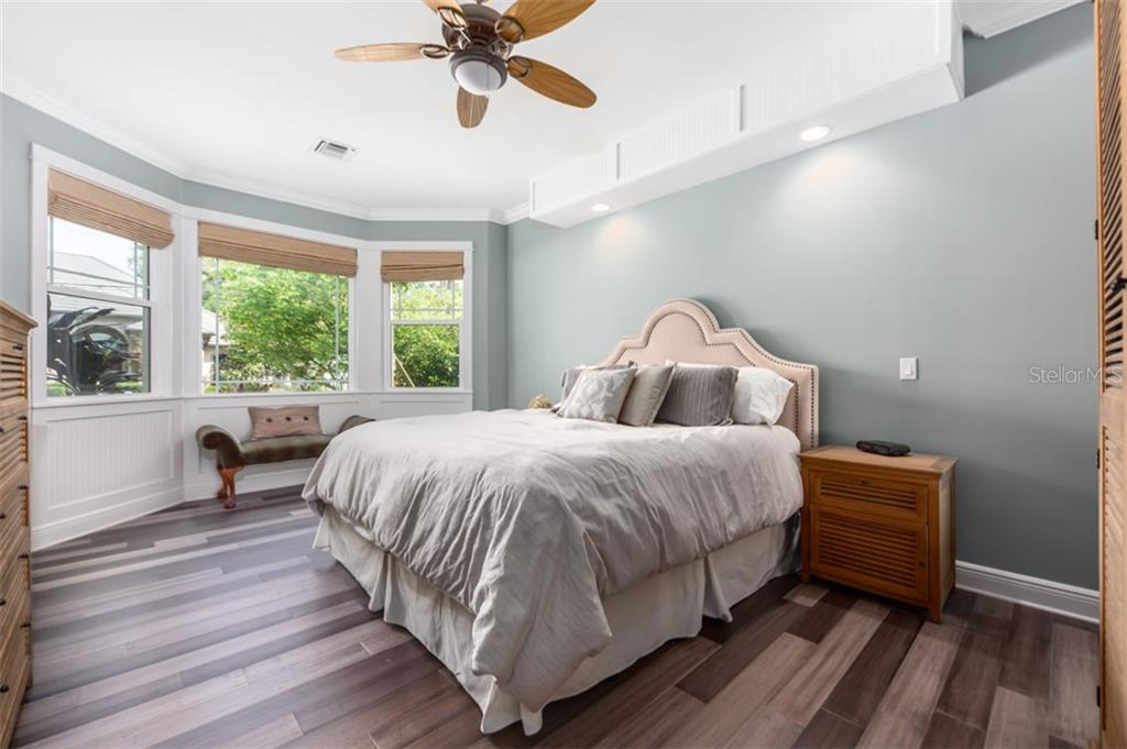Master bed room features beautiful bay window. New Bamboo wood floors. - Single Family Home for sale at 1716 Arlington St, Sarasota, FL 34239 - MLS Number is N6104891