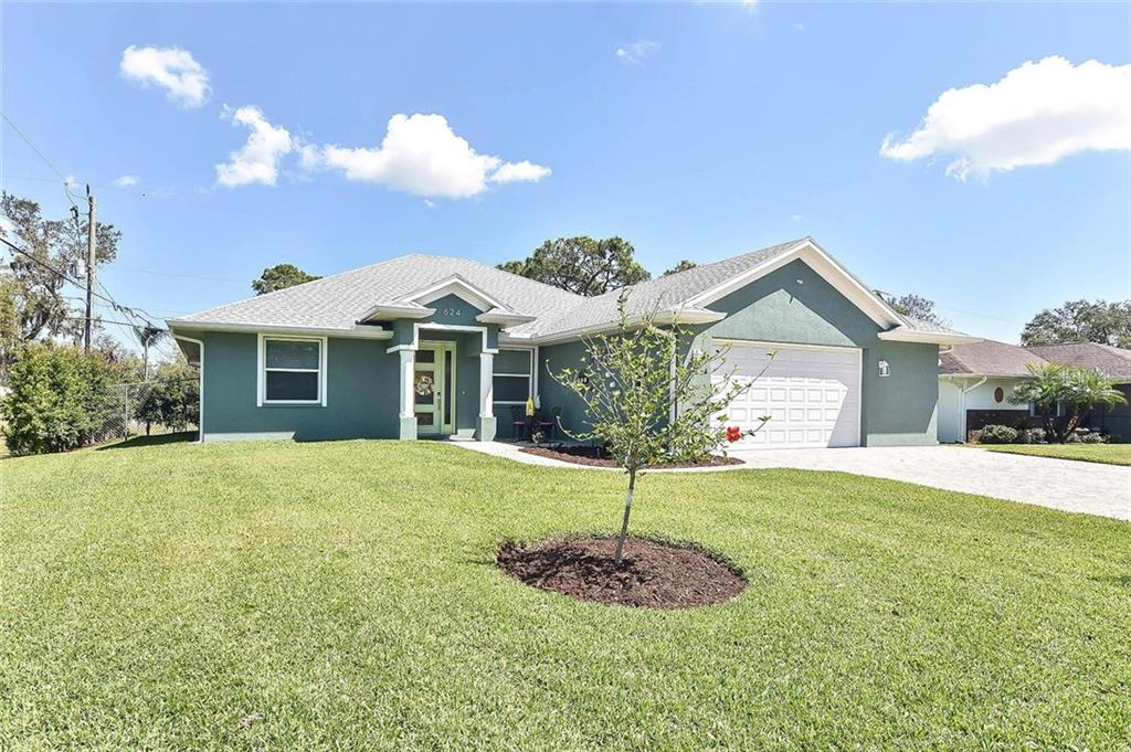 Nice yard with an irrigation system everywhere - Single Family Home for sale at 624 Lehigh Rd, Venice, FL 34293 - MLS Number is N6105257