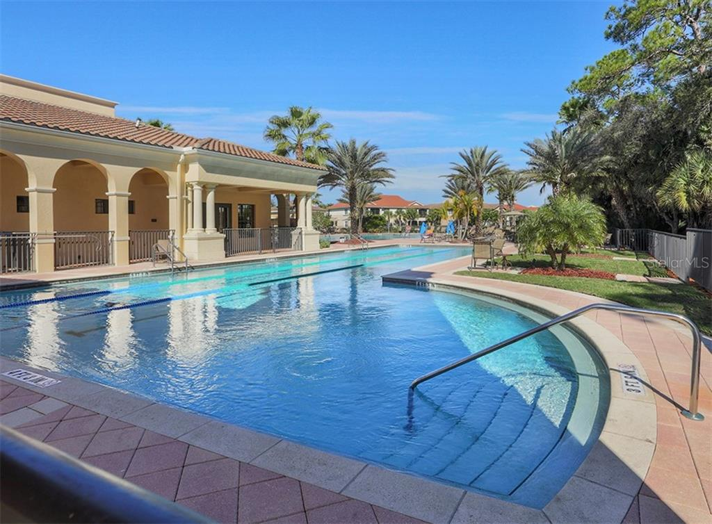 Community lap pool - Single Family Home for sale at 189 Portofino Dr, North Venice, FL 34275 - MLS Number is N6106071