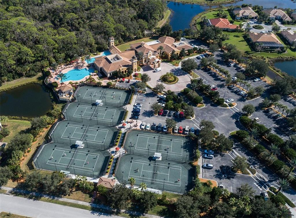 Aerial of community amenities - Single Family Home for sale at 106 Vicenza Way, North Venice, FL 34275 - MLS Number is N6106168