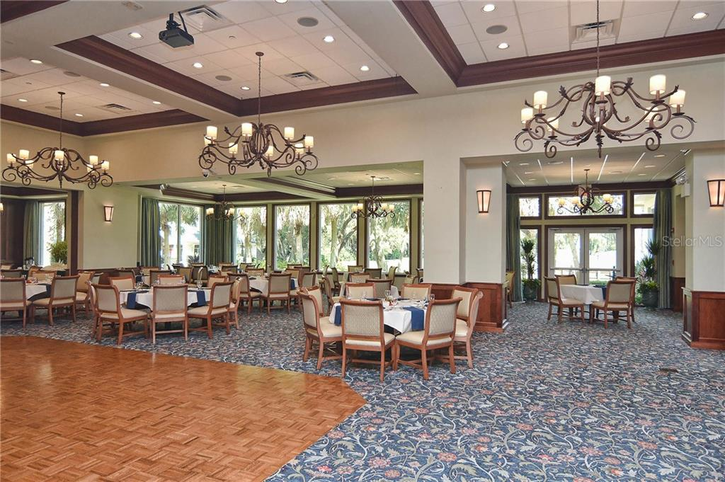 Clubhouse dining room. - Single Family Home for sale at 323 Lansbrook Dr, Venice, FL 34292 - MLS Number is N6109725