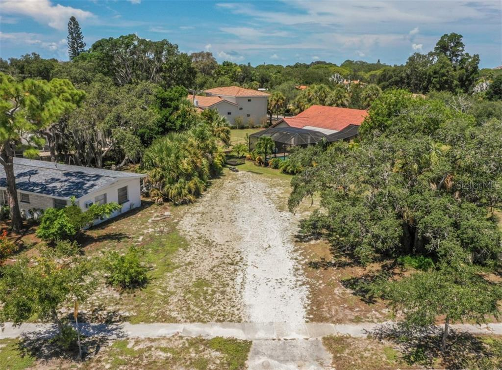 Aerial street view - Vacant Land for sale at 230 Nassau St S, Venice, FL 34285 - MLS Number is N6111555