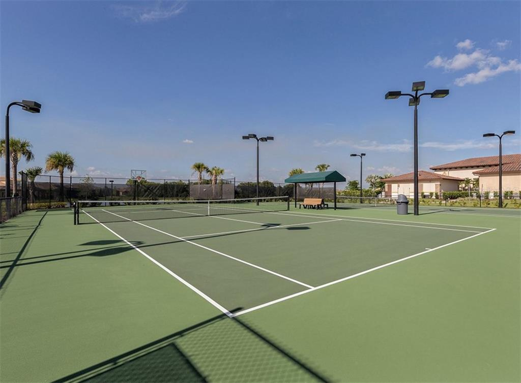 Community Tennis Courts - Condo for sale at 20120 Ragazza Cir #201, Venice, FL 34293 - MLS Number is N6112061