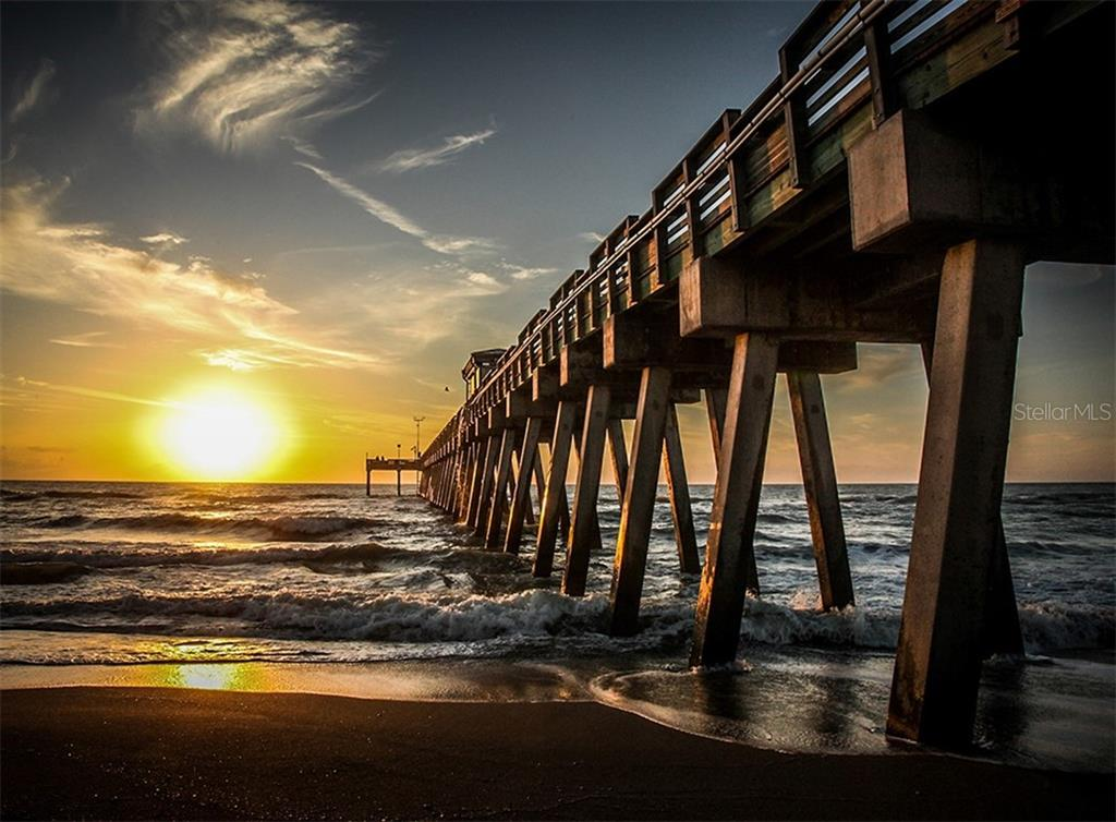Sunset at the Venice Fishing Pier - Condo for sale at 167 Tampa Ave E #313, Venice, FL 34285 - MLS Number is N6112536