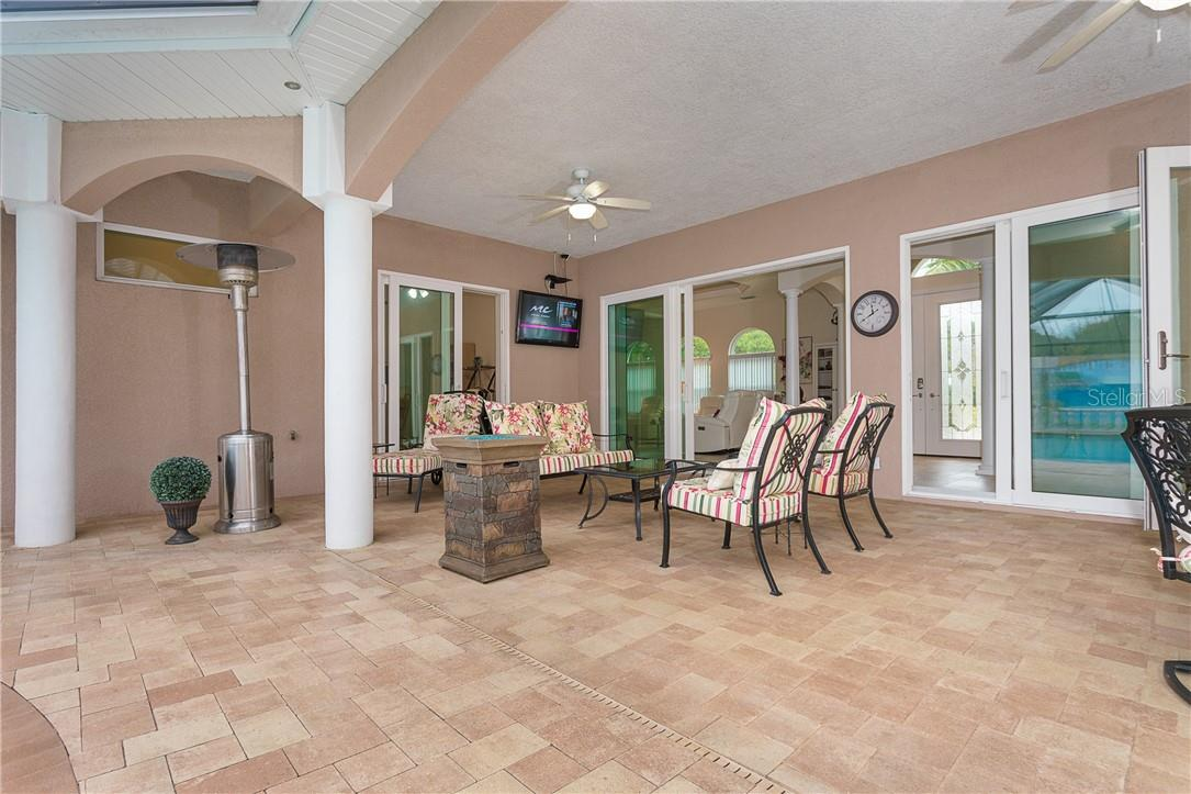 Note the pavers, which match those used on the driveway. - Single Family Home for sale at 1670 Maria St, Englewood, FL 34223 - MLS Number is N6113779