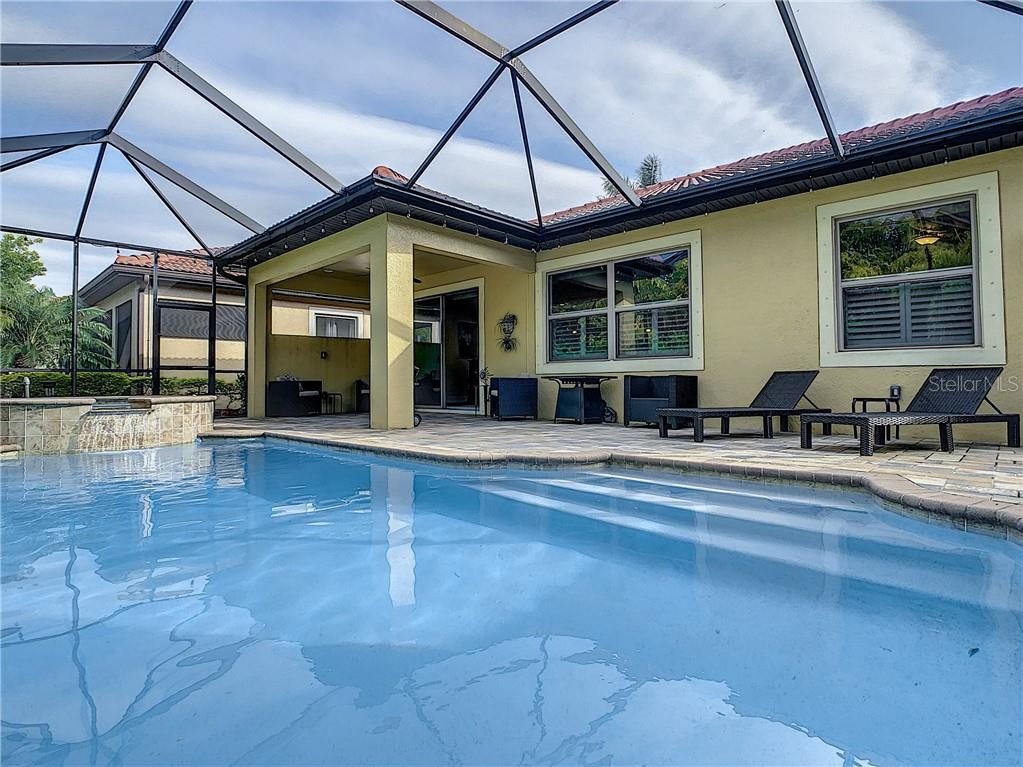Pool/lanai - Single Family Home for sale at 108 Maraviya Blvd, North Venice, FL 34275 - MLS Number is N6113946