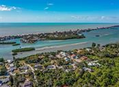 Aerial towards ICW and Gulf of Mexico - Single Family Home for sale at 915 Bayshore Rd, Nokomis, FL 34275 - MLS Number is N6109471