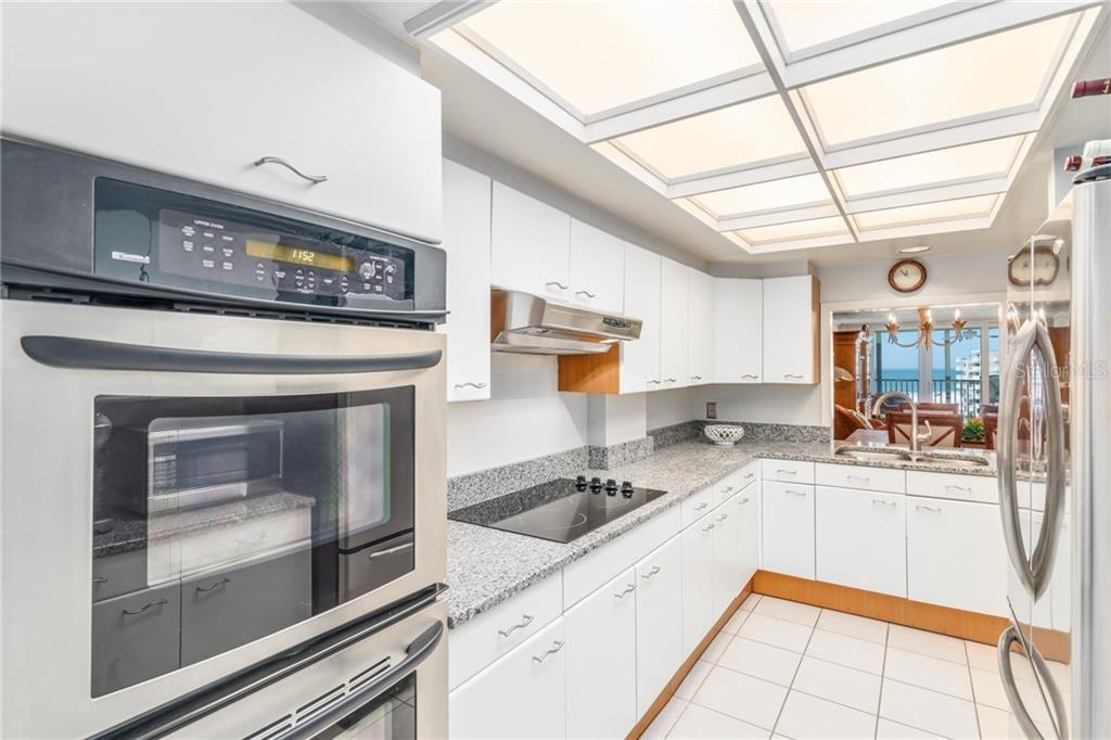 Kitchen with gulf views - Condo for sale at 5880 Midnight Pass Rd #810, Sarasota, FL 34242 - MLS Number is A4208619