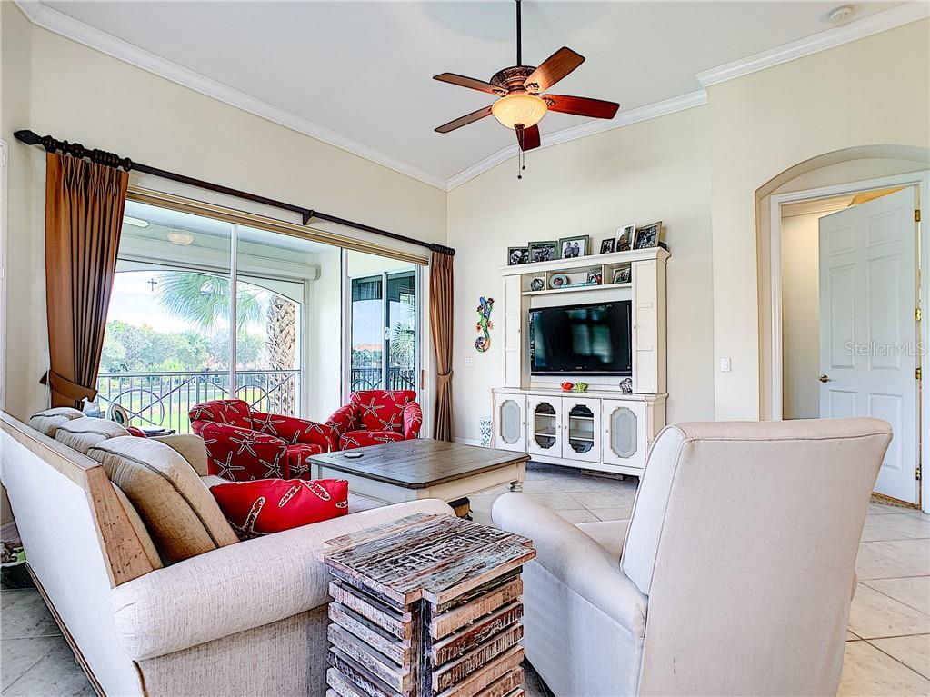 Great Room plan - 2300 sq. ft. lives like a home! - Condo for sale at 9453 Discovery Ter #201c, Bradenton, FL 34212 - MLS Number is A4423314