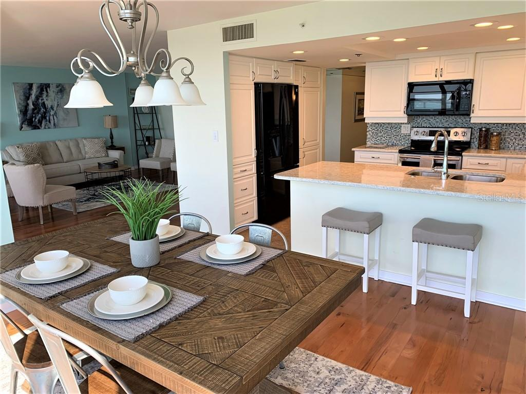 open updated kitchen - Condo for sale at 770 S Palm Ave #1002, Sarasota, FL 34236 - MLS Number is A4430789