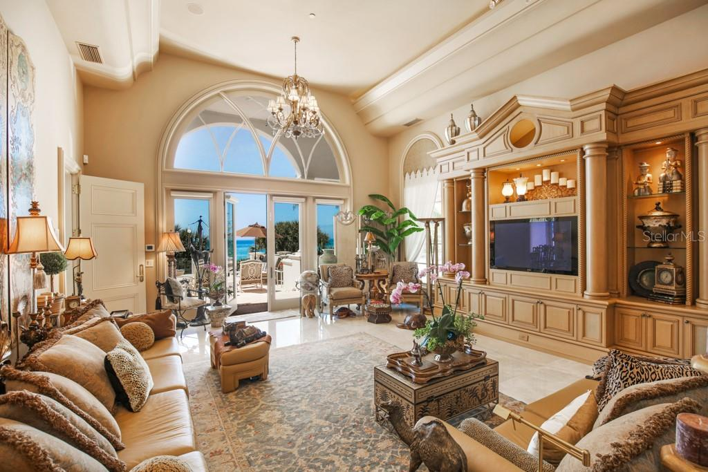 Family room - Single Family Home for sale at 845 Longboat Club Rd, Longboat Key, FL 34228 - MLS Number is A4440615