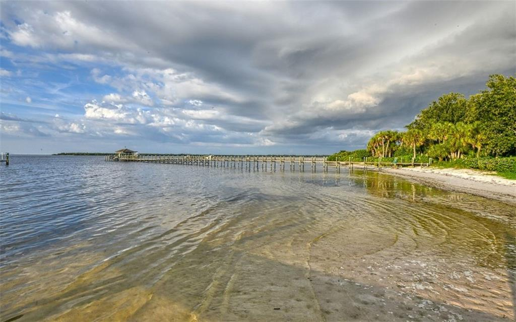 Private beach looking at mouth of the Manatee River - Single Family Home for sale at 2316 Nw 85th St Nw, Bradenton, FL 34209 - MLS Number is A4445702